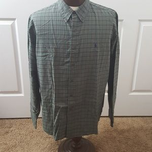 Ralph Lauren custom fit button-front  XXL shirt